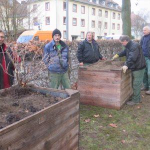 Gartenarbeiten für das kommende Kulturzentrum